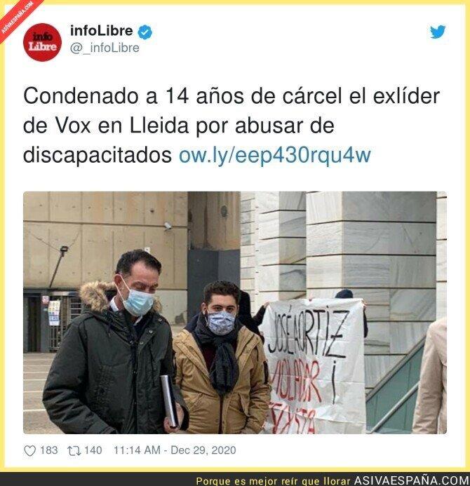 524703 - Si esta noticia fuese sobre alguien de Podemos... pero es de VOX