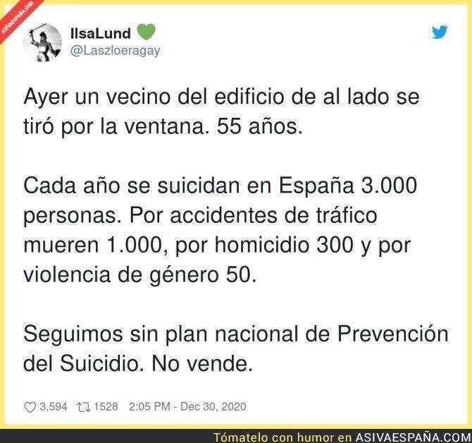 526726 - Que poco se habla de los suicidios en España