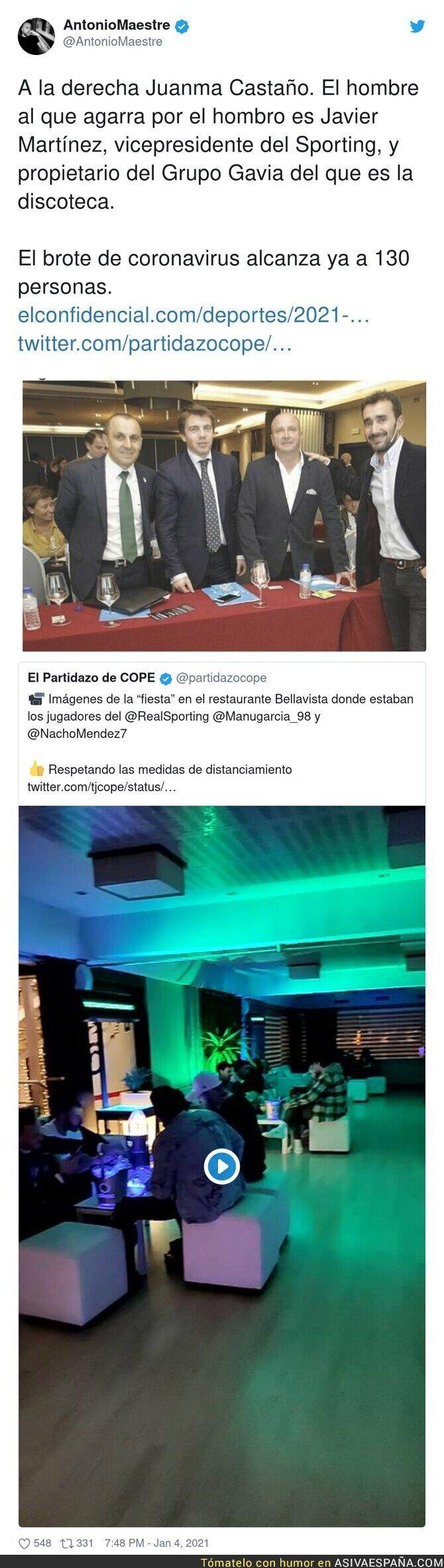 533023 - Los intereses de Juanma Castaño para defender el gran rebrote vivido en la fiesta del Sporting de Gijón