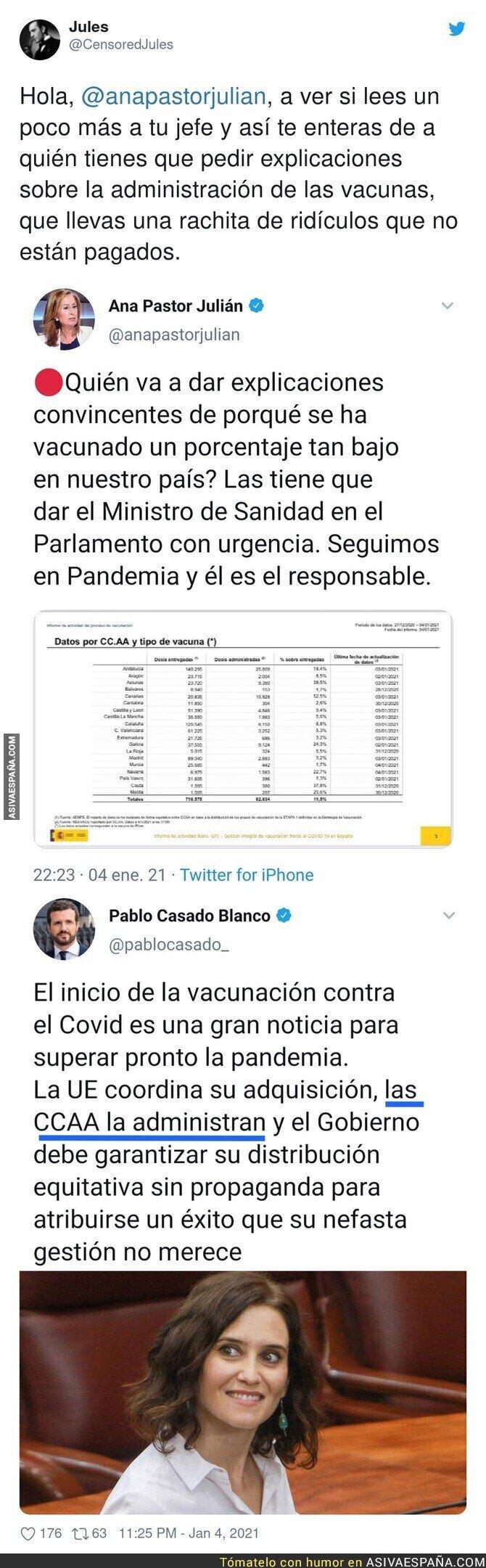 533458 - Ana Pastor y todo el PP queda retratado al completo con el tema de las vacunas por lo que dijo Pablo Casado hace poco tiempo