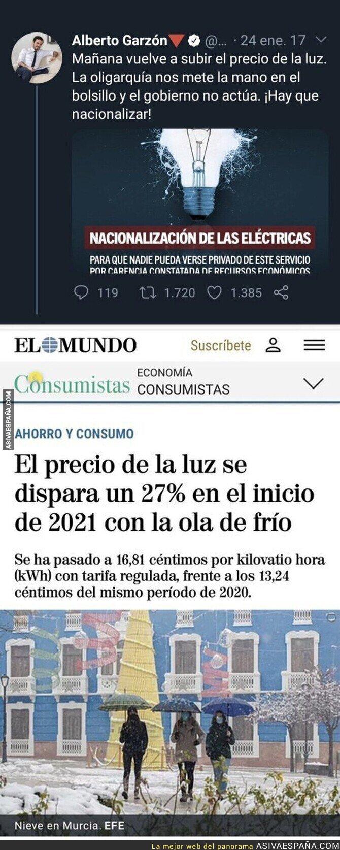 539677 - Ojalá Alberto Garzón fuese Ministro de Consumo y pudiese hacer algo