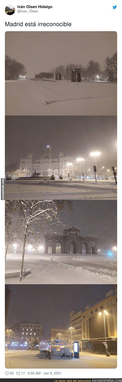 541297 - Bonitas imágenes de Madrid nevada