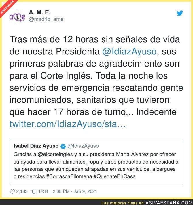 542639 - Es tremendo lo de Isabel Díaz Ayuso