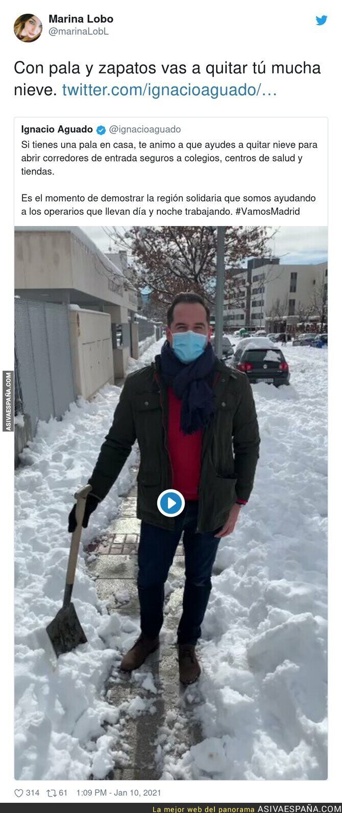 543975 - Menudo teatro para recoger nieve