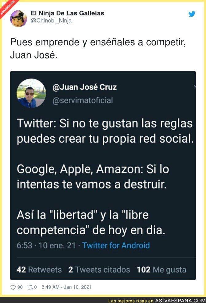 545626 - Juan José empezará su lucha contra Google, Apple y Amazon porque es muy listo