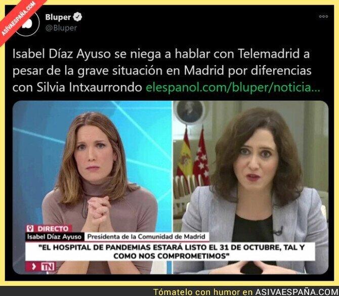 546178 - A Isabel Díaz Ayuso no le gusta el periodismo cuando le complican las preguntas