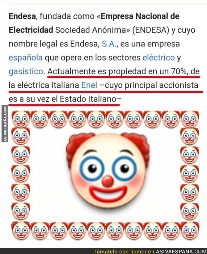 550765 - Josemari Aznar regala Endesa al sector privado para que se termine haciendo con ella una empresa pública y encima extranjera