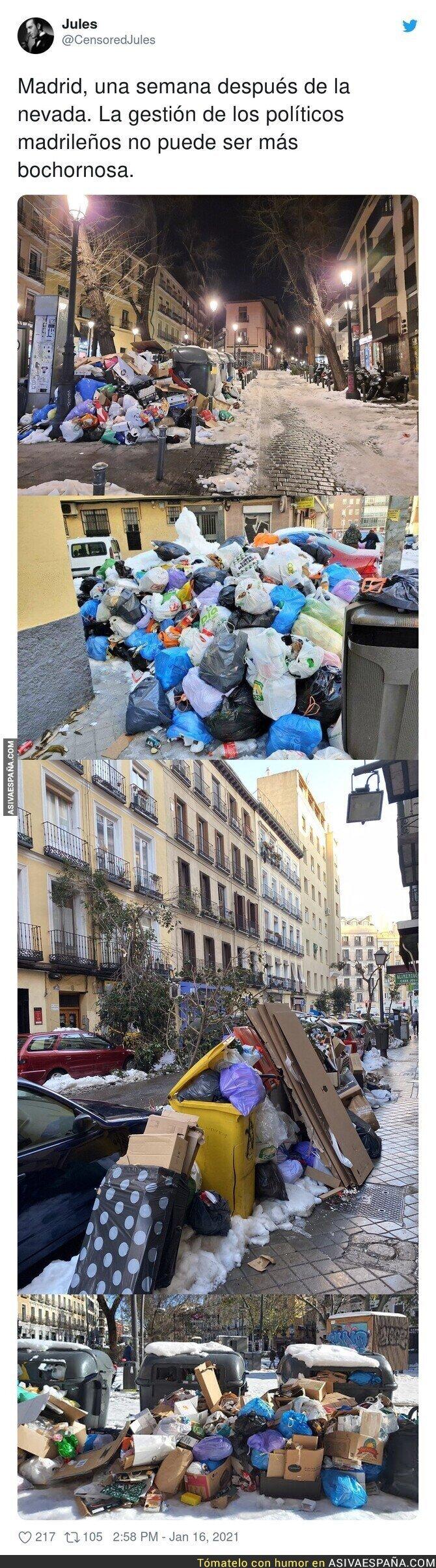 554354 - La situación de Madrid es muy preocupante con el PP al frente en una nevada