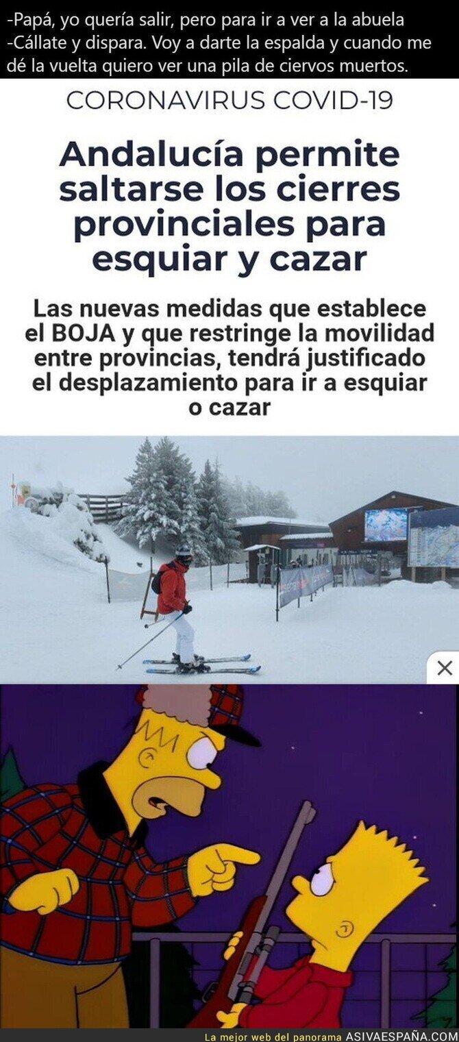 555458 - Cazar y esquiar esquiva al coronavirus