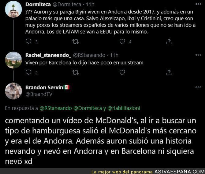 558492 - El youtuber 'Auronplay' también está viviendo en Andorra desde hace meses para no pagar impuestos en España y ha tratado ocultarlo pero ha sido cazado por este detalle