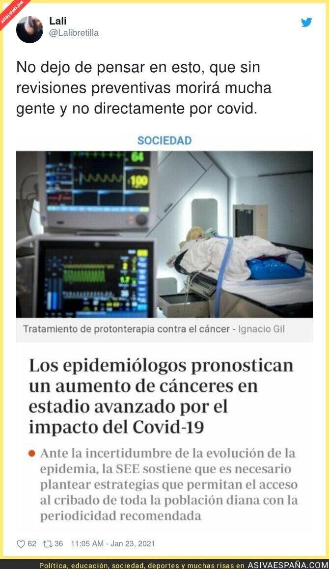 565701 - Lo peor de la pandemia son los daños colaterales para las enfermedades más graves