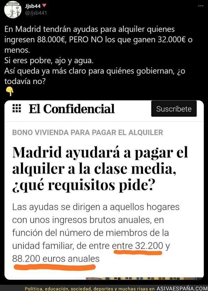 569405 - La clase media según el PP en Madrid a la que ayudará a pagar el alquiler