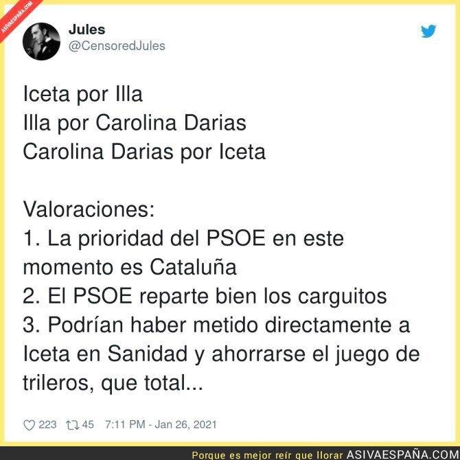 570297 - El intercambio del PSOE en un momento crítico en España