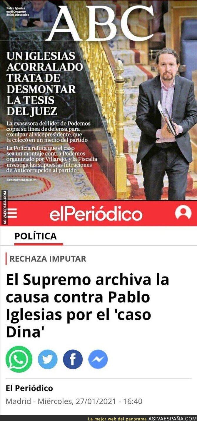 571564 - Otra querella archivada contra Pablo Iglesias y ya hemos perdido la cuenta