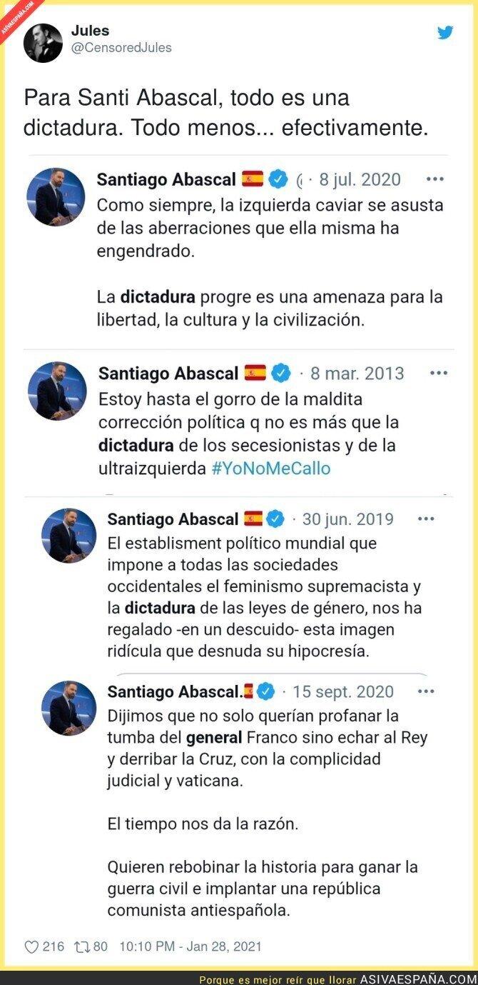 573557 - Las dictaduras que molestan a Santiago Abascal, menos una...