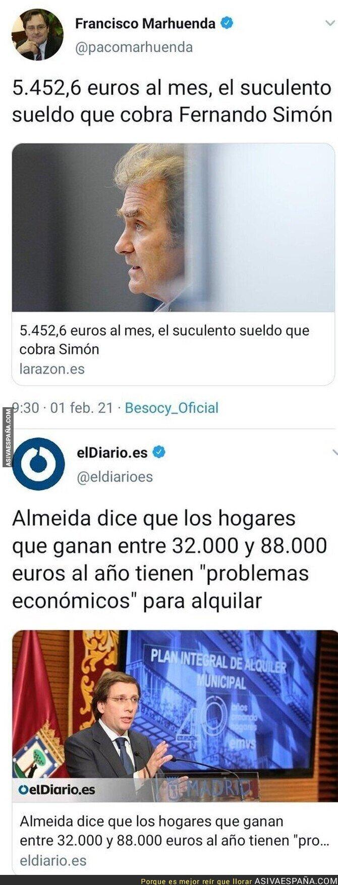579501 - Fernando Simón tiene problemas para alquilar según la Comunidad de Madrid siguiendo la lógica