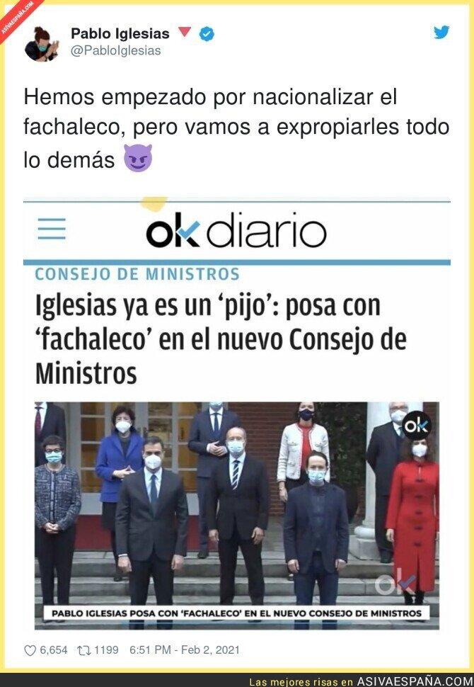 580832 - Pablo Iglesias se pasa al fachaleco