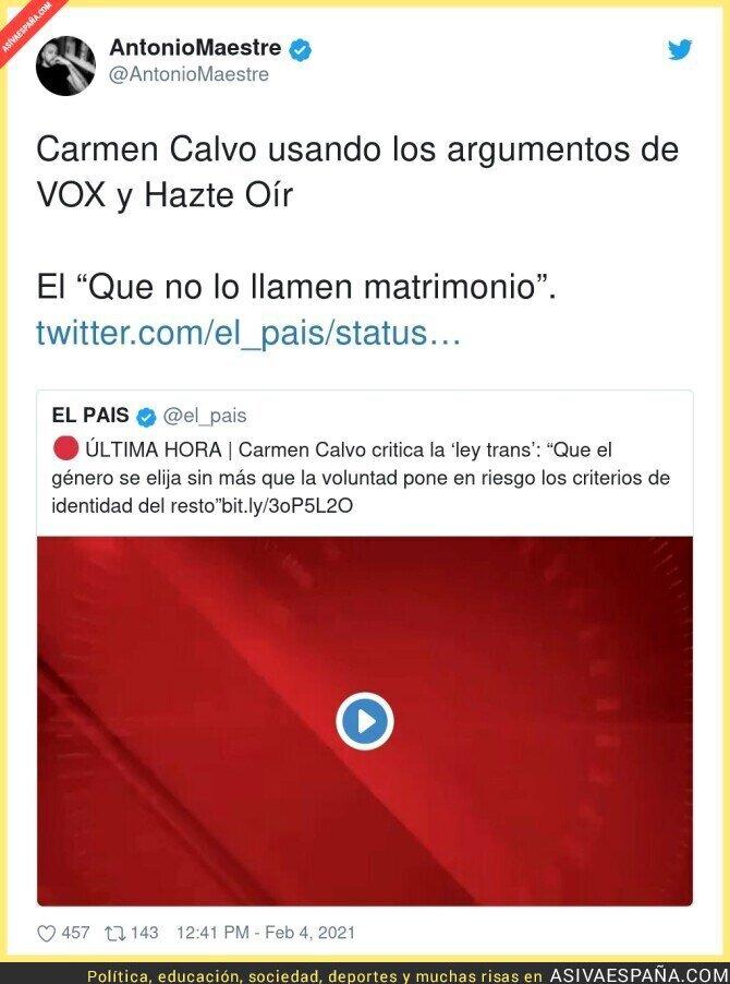 583328 - Quien me diría que Carmen Calvo es del PSOE