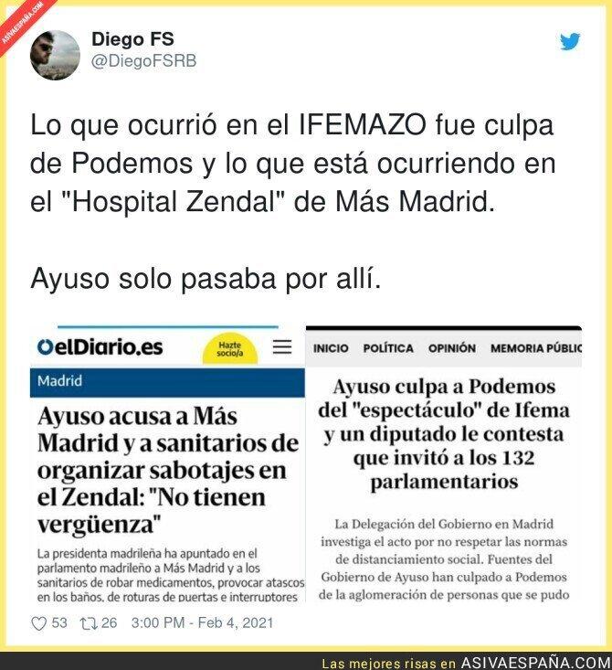 583583 - Ayuso no es culpable de nada pese a ser la que más manda en Madrid