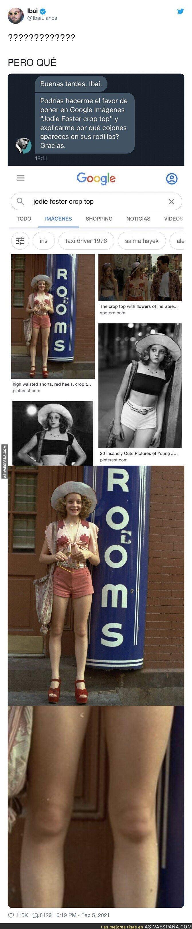 585536 - El misterioso caso de las rodillas de Jodie Foster y sus rodillas en las que sale Ibai Llanos