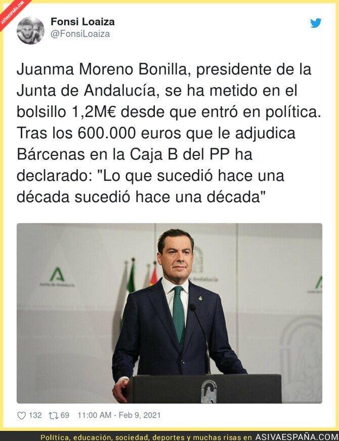 591215 - Así se está forrando Juanma Moreno