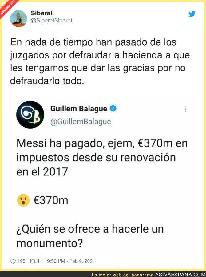 591854 - Hay que perdonarle la vida a Messi por pagar lo que le toca