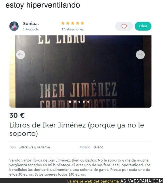 594875 - Gran descripción para vender los libros de Iker Jiménez