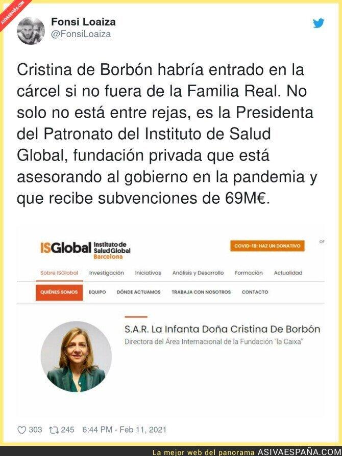 595072 - Los favores a la Infanta Cristina de Borbón