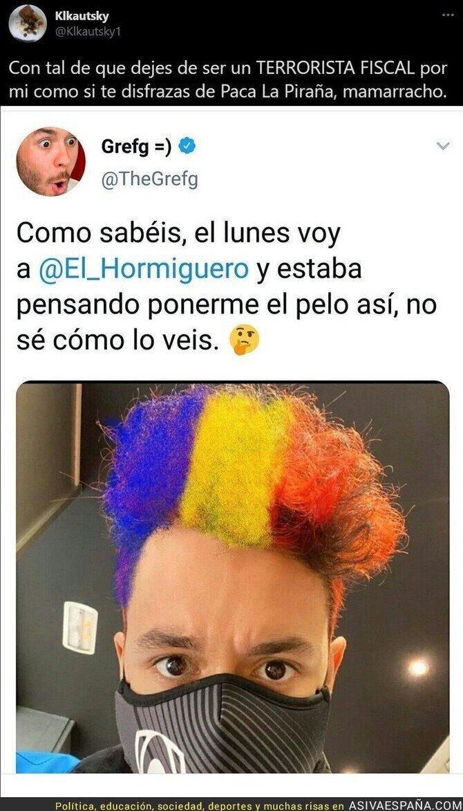 599397 - El Youtuber 'TheGrefg' provoca con ir con los colores de Andorra a 'El Hormiguero'