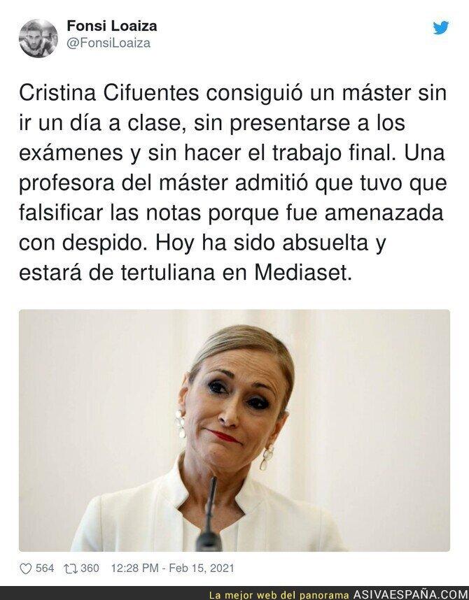 601209 - La justicia en España lo ha vuelto a hacer con Cristina Cifuentes