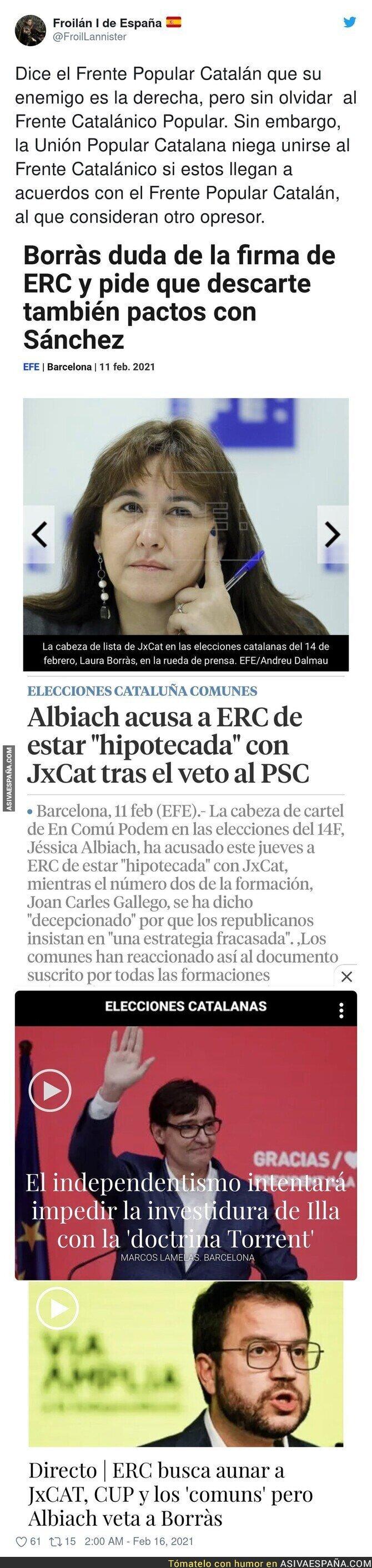 603019 - La búsqueda de pactos en Catalunya