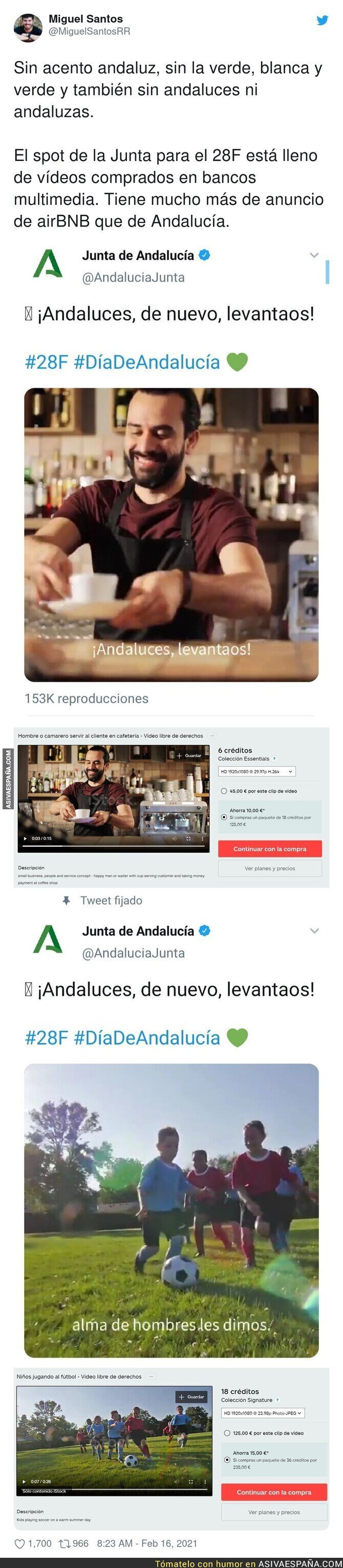603497 - El vergonzoso spot para el turismo de Andalucía con vídeos de stock que realmente son de Florencia