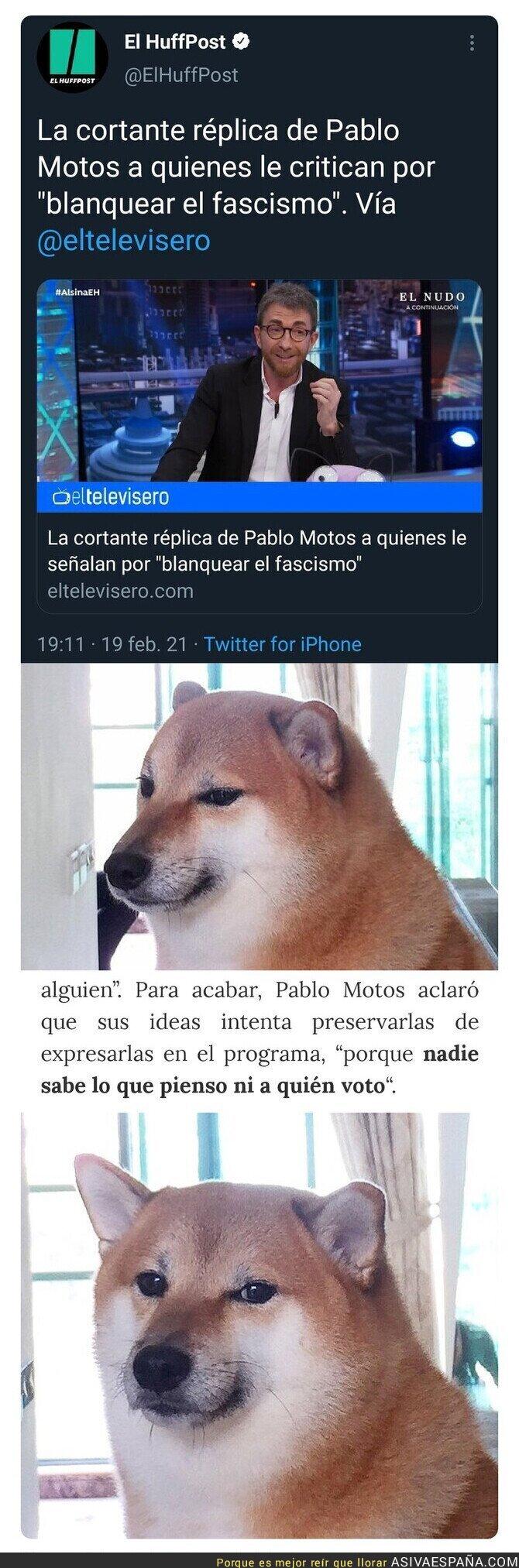 611609 - Pablo Motos le calla la boca a quienes le critican por 'blanquear el fascismo' (sale mal)