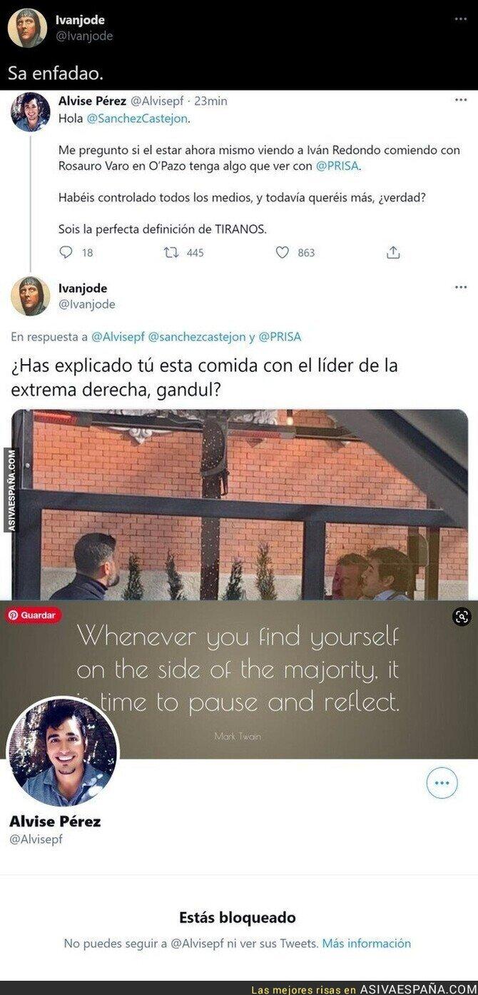 611916 - A Alvise Pérez no le gusta que le saquen su foto comiendo con Santiago Abascal