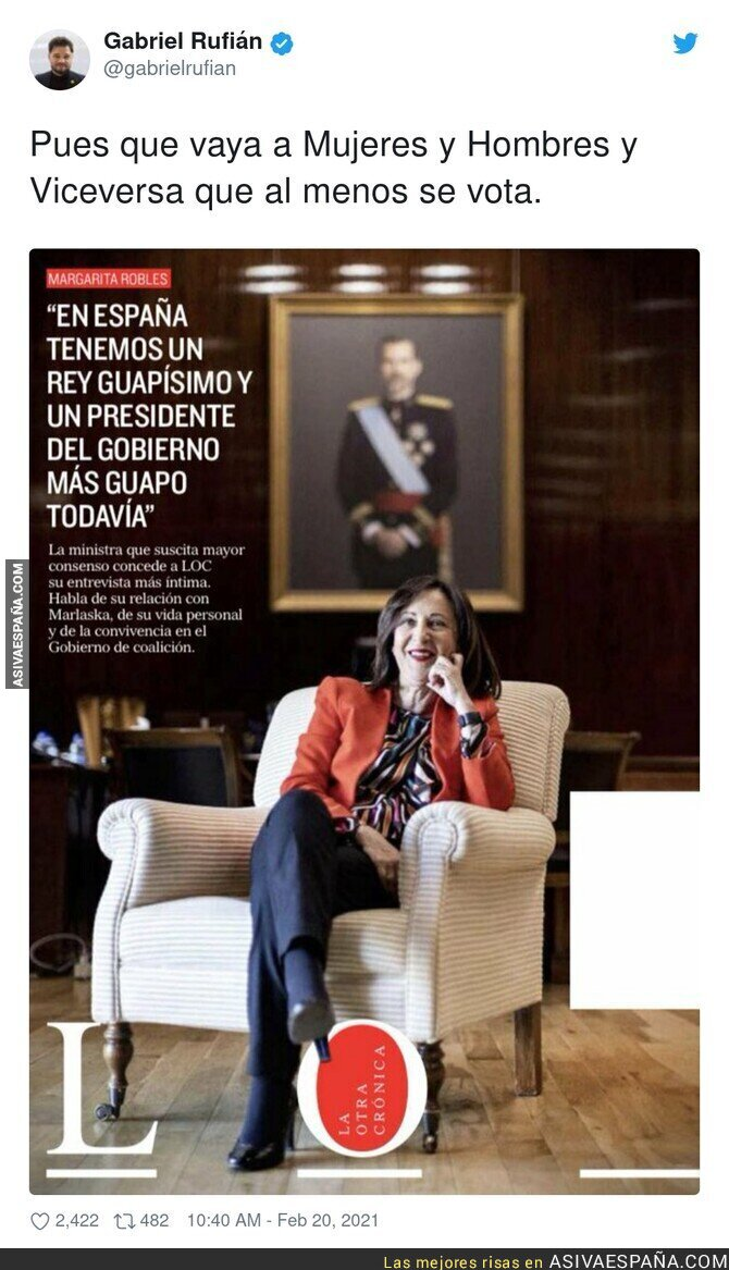 612378 - Margarita Robles de camino a Telecinco
