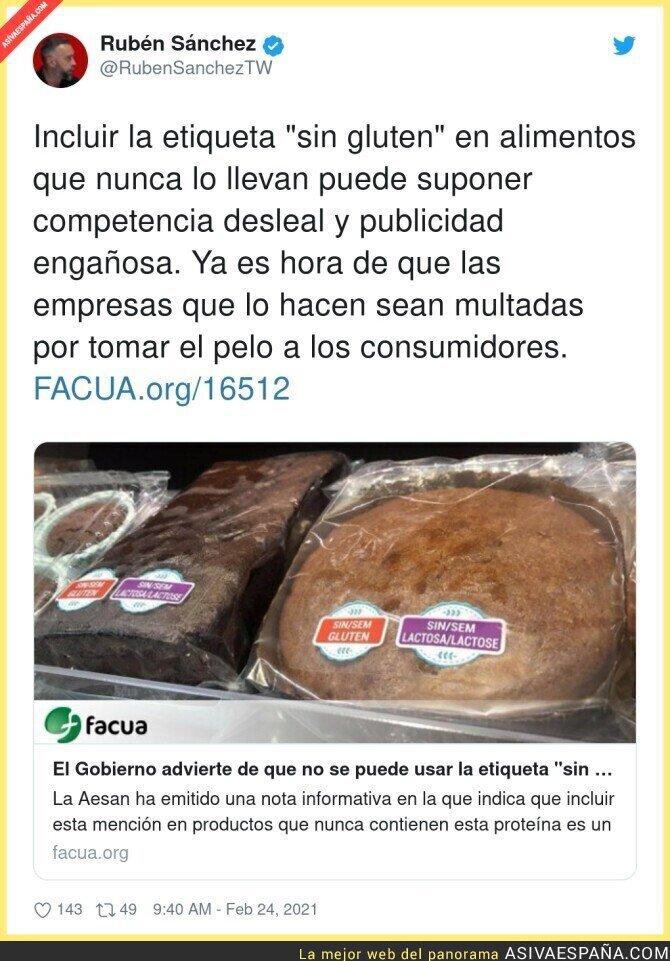 619014 - Mucho cuidado con las etiquetas 'Sin gluten'