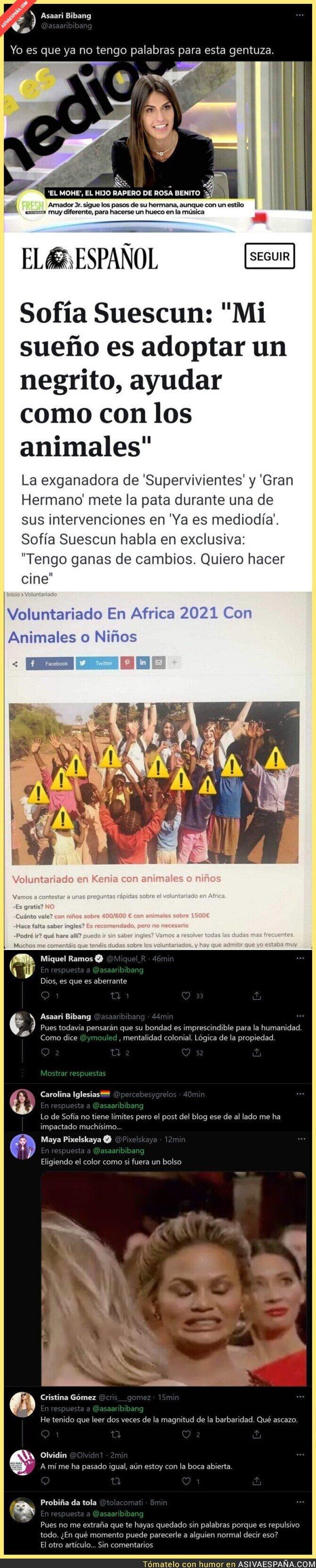 619182 - Las polémicas y lamentables declaraciones de Sofía Suescun en Telecinco sobre los niños que le gustaría adoptar en un futuro
