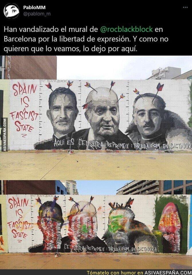 620432 - Las pintadas que molestan en Barcelona y que no quieren que veas