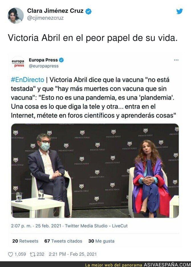 620964 - Menudo bochorno de ser es Victoria Abril