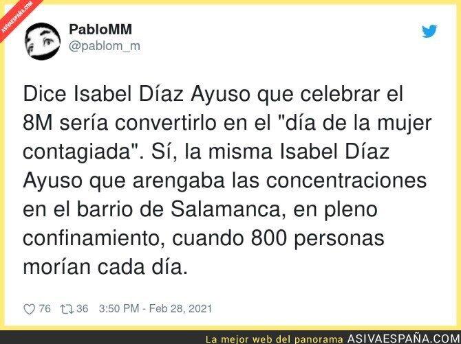 624487 - Isabel Díaz Ayuso debería estar bien calladita que lleva muchos muertos a sus espaldas durante la pandemia por su gestión
