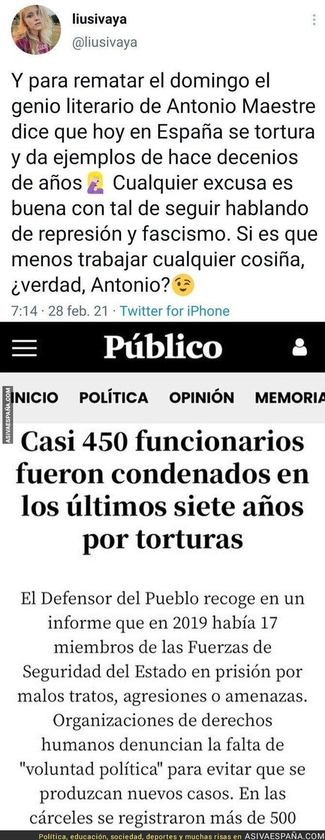 625433 - ¿Pero cómo se puede decir que en España se tortura?