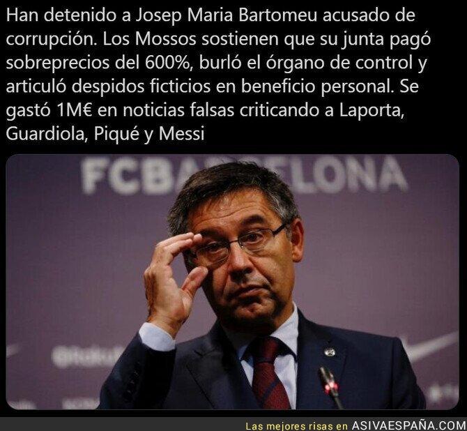 625475 - El gran escándalo de Bartomeu frente al Barça