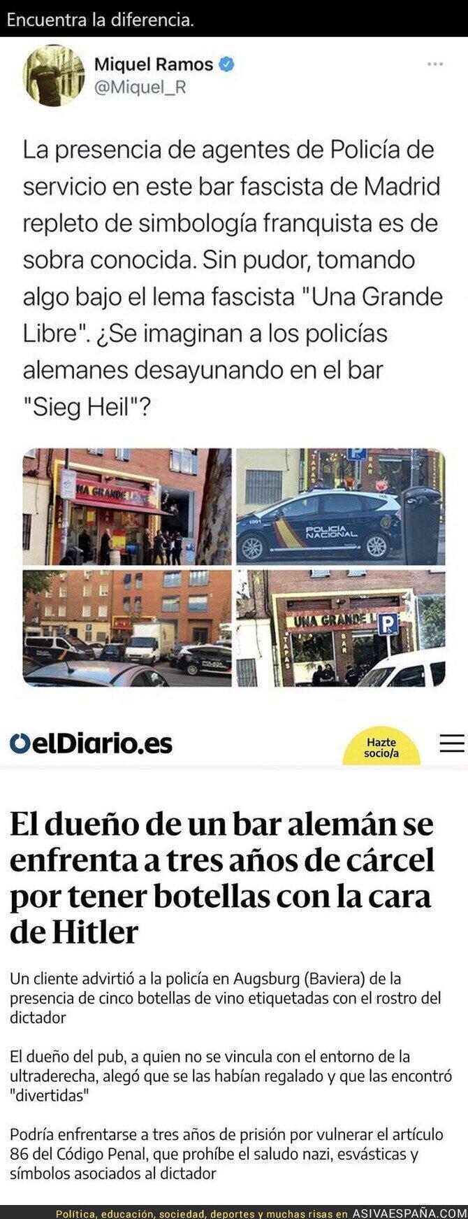 625761 - Grandes diferencias entre Alemania y España cuando en un bar hay simbología fascista