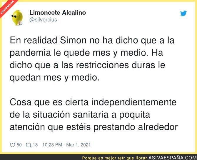 626573 - Hay mucha gente interesada en intentar dar la vuelta a las palabras de Fernando Simón