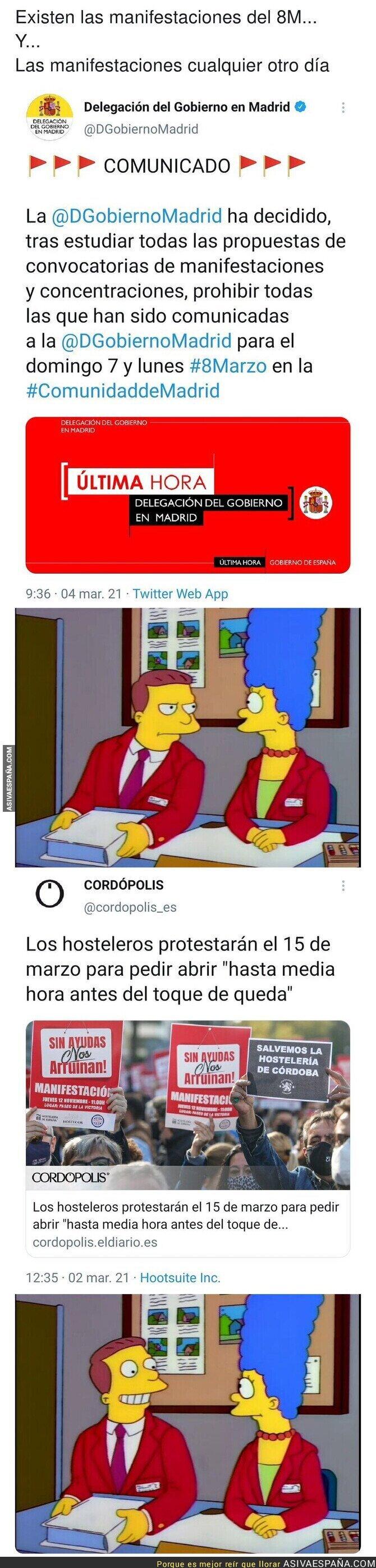 629751 - El tipo de protestas que se permiten por Madrid