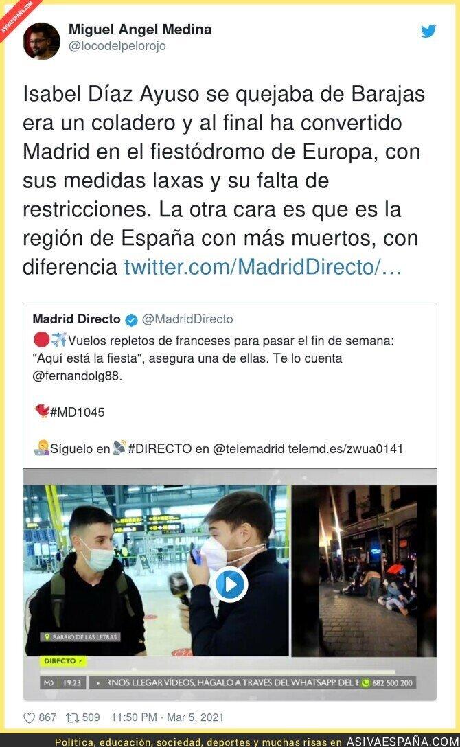 632721 - El gran peligro de Madrid por culpa de Isabel Díaz Ayuso