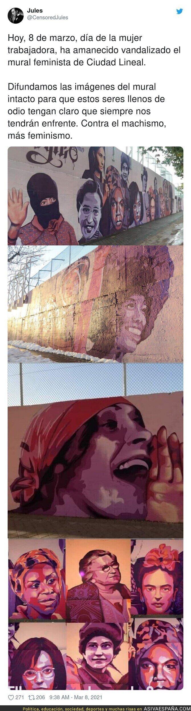 635043 - El mural que la ultraderecha no quiere que veas este 8M