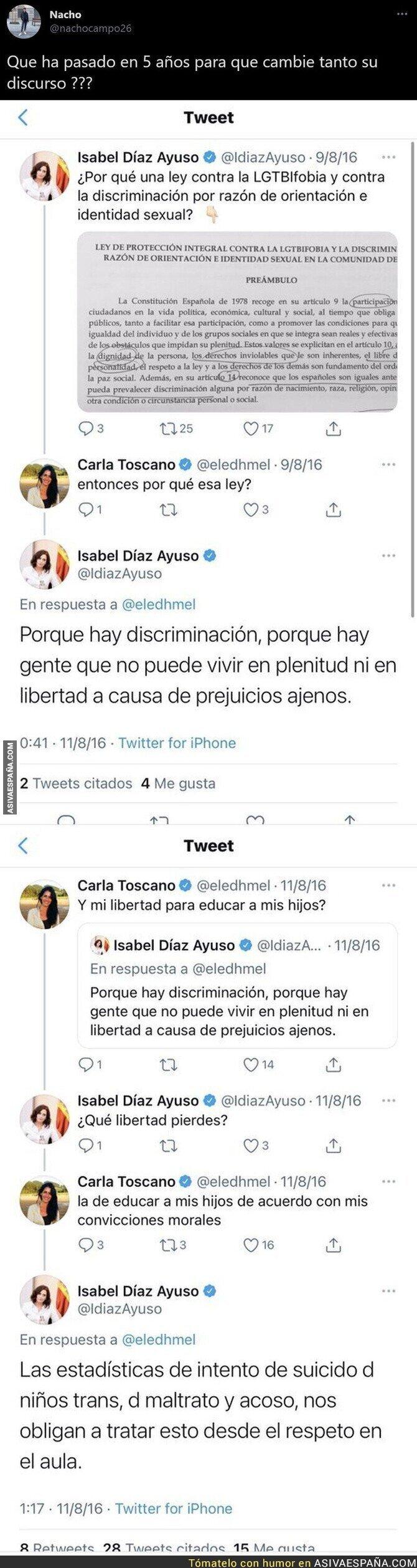 648986 - Así opinaba Isabel Díaz Ayuso hace 5 años sobre la LGTBIfobia y nadie entiende su forma de pensar