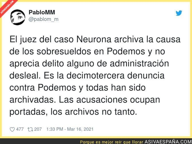 650004 - Otro caso más de Podemos archivado