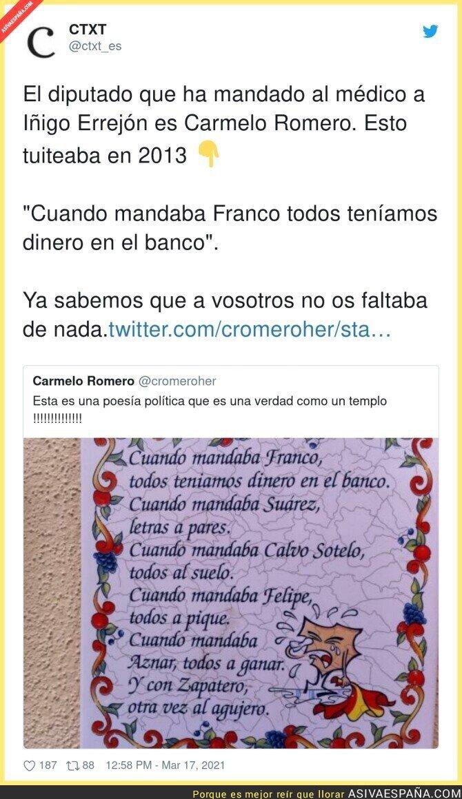 651819 - El político franquista del PP que mandaba al médico a Íñigo Errejón tuiteaba esto en 2013